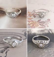 filigree engagement ring antique filigree engagement rings uncommon engagement