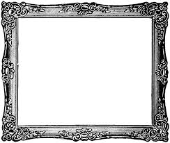 fancy painting frame black and white clip search