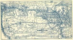 Union Pacific Railroad Map The Milwaukee Road Chicago Milwaukee And St Paul Railway To