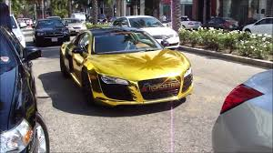 Audi R8 Gold - tyga u0027s audi gold youtube