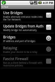 settings for android tor project android
