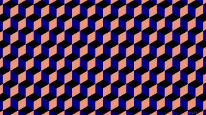 wallpaper blue 3d cubes red black 000000 000080 e9967a 180 166px