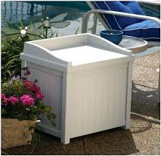 deck box with seating wicker gal resin deck box deck box with