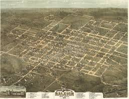 Map Of North Carolina Cities Early History Raleigh A Capital City A National Register Of