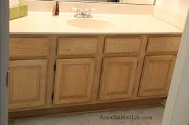 Painting A Bathroom Cabinet - vanity makeover