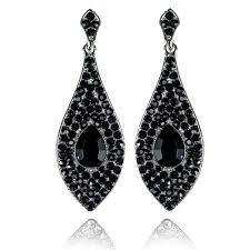 black earrings earings teardrop earrings black teardrop earrings