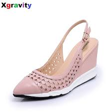 Closed Toe Sandals With Heel Online Get Cheap Women U0026 39 S Leather Closed Toe Sandals
