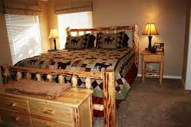 oregon log bed custom handmade log furniture