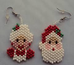 mr t earrings mr and mrs santa earrings santa christmas
