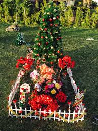75 best cemetery decorations poinsettia images on pinterest