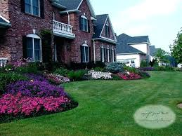 landscaping small front yard ideas landscape front of home bed