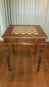 handmade chess table with chess set chess sets tables and etsy