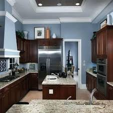 kitchen color ideas with oak cabinets and black appliances grey kitchen cabinets beige walls blue kitchen walls