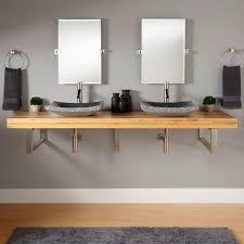 Vessel Vanity Bathroom Vanity With Vessel Sink Mount 355686 L Teak Wall Mount
