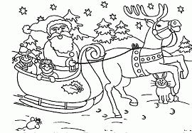 christmas coloring page santa coloring home