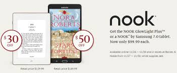 black friday barnes and nobles black friday deals on nook glowlight plus and nook galaxy tab