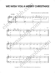 we wish you a merry christmas piano solo arranged by elena cobb