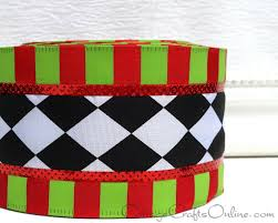 christmas wired ribbon christmas wired ribbon 2 1 2 black and white harlequin