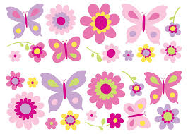 Butterfly Wall Decals For Nursery by Fun4walls Butterfly And Flowers Wall Decals Walmart Com