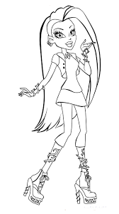monster mhigh coloring pages monster high coloring pages we