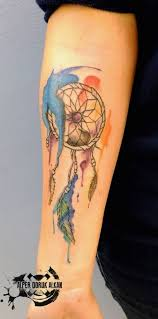 dreamcatcher tattoos for a good night sleep