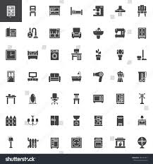 home interiors furniture vector icons set stock vector 731311471