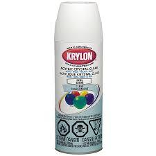 Krylon Transparent Spray Paint - acrylic crystal clear