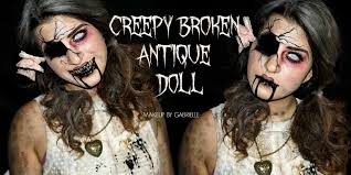 creepy broken antique doll makeup tutorial makeup by gabrielle
