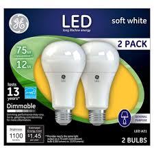 75 watt led light bulbs ge led 75 watt light bulb 2 pack soft white target