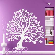 online get cheap mural stencils aliexpress com alibaba group cute marchen tree heart wall art sticker vinyl die cut transfer decal home nursery living room decor window door stencil mural