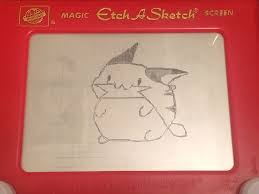 mini chibi raichu adventures etchasketch