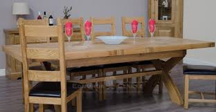 X Leg Dining Table Oak X Leg Extending Dining Table Oak Dining And Kitchen Tables