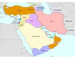 middle east map water bodies bodies of water south west asia middle east purposegames
