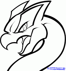how to draw a dragon lugia lugia from pokemon step by step