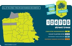 San Francisco Neighborhoods Map by Everytreesf U2013 Street Tree Census Planning Department
