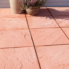 Paving Slabs For Patios by Terracotta Derbyshire Single Paving Slab L 450mm W 450mm