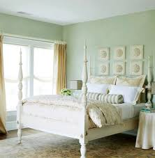 Green Wall Bedroom by Sea Green Bedroom Walls White Four Poster Bed U0026 Coastal Vintage