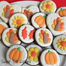 sugar dot cookies thanksgiving cookies