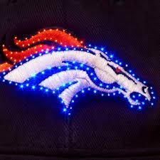 nfl denver broncos led light up logo adjustable hat