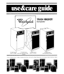 Household Trash Compactor Whirlpool Trash Compactor Tu 8000 Series User Guide