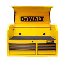 dewalt 36 in 6 drawer tool chest yellow dwmt73678 the home depot
