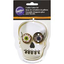 halloween skull cookie cutter set wilton