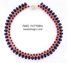 free necklace pattern images Free pattern for necklace nino click on beads magic patterns