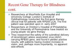 Gene Therapy For Blindness Gene Therapy Vasileios Antonopoulos Teacher Evangelos