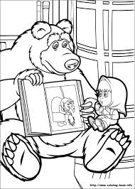 masha bear coloring pages coloring book