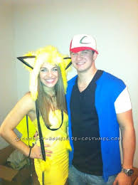 Ash Ketchum Halloween Costume Easy Ash Pikachu Couple Costume Pikachu Costumes