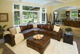 Leather Sectional Living Room Furniture Living Room Design Ideas Leather Sectional 1025theparty