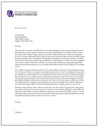 letterhead and fax templates university of wisconsin whitewater