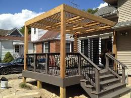 16x16 deck with pergola and cedar railings my projects