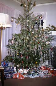 christmas tree tinsel a vintage 1950 s christmas tree i trees with silver